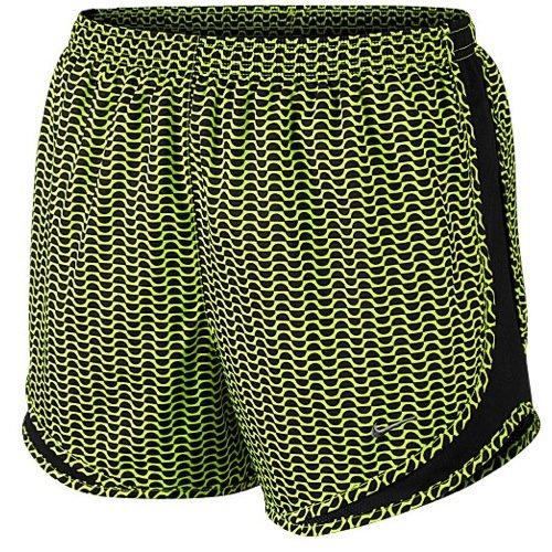Nike Women's Printed Tempo Running Shorts Bright (Small, Green)