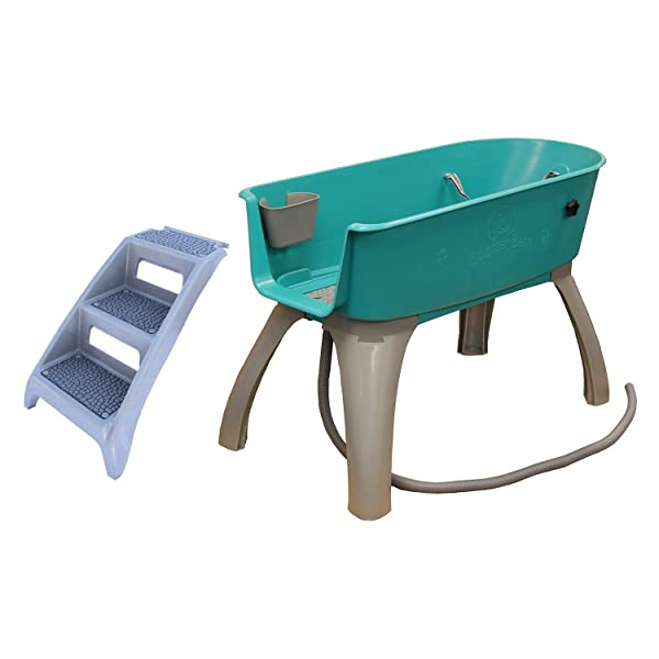 Booster Bath Elevated Pet Bathing X-Large with Step Combo (Combo)