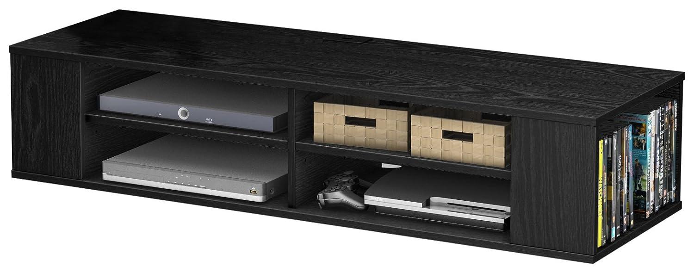 Tv Black Media Floating Entertainment Center Shelf Cabinet