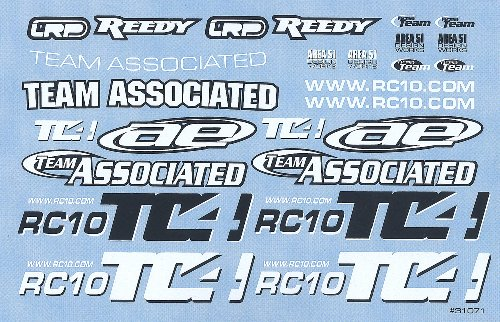 Team Associated 31071 TC4 Decal Sheet