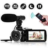 Camcorder Video Camera Full HD 1080P Night Vision Camcorder Vlogging Camera Blogging Camera 16x Digital Camera Vlog Video Camera for YouTube Videos (Color: V3A)