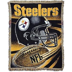 "Steelers 48""x60"" Northwest NFL Jacquard Spiral Throw at SteelerMania"