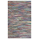 Safavieh Rag Rug Collection RAR121A Handmade Grey and Multicolored Cotton Area Rug, 6-Feet by 9-Feet