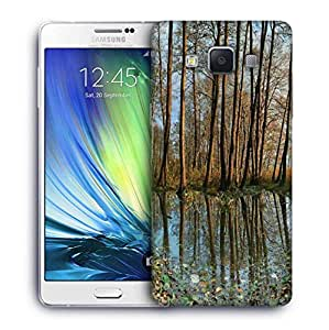 Snoogg Small Pond In Forest Printed Protective Phone Back Case Cover For Samsung Galaxy A7