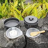 Ohuhu-8pcs-Lightweight-Outdoor-Camping-Hiking-Cookware-Backpacking-Cooking-Picnic-Bowl-Pot-Pan-Set