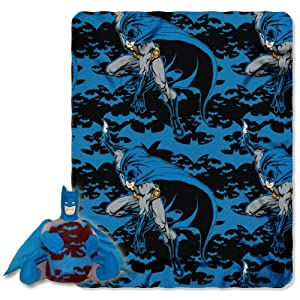 "Warner Brothers ""Batman, Dark Night"" Fleece Throw with Hugger, 40 by 50-Inch at Gotham City Store"