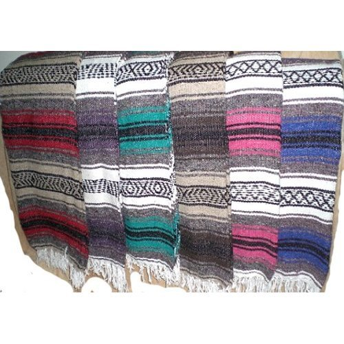 Authentic Mexican Falsa or Yoga Blanket purple