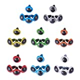 PH PandaHall 64 Pieces 8 Color Plastic Safety Eyes Craft Eyes with 64 Pieces Washers for Doll, Puppet, Plush Animal Making (Color: 8 Color Safety Eyes (64pcs))
