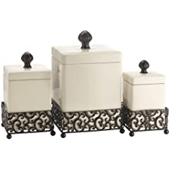 Attractive Set of Three (3) Square Ceramic <a style=