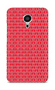 Amez designer printed 3d premium high quality back case cover for Meizu MX5 (Heart Pattern2)