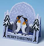 The Nutmeg Company Penguin Christmas Card 3D Cross Stitch Kit