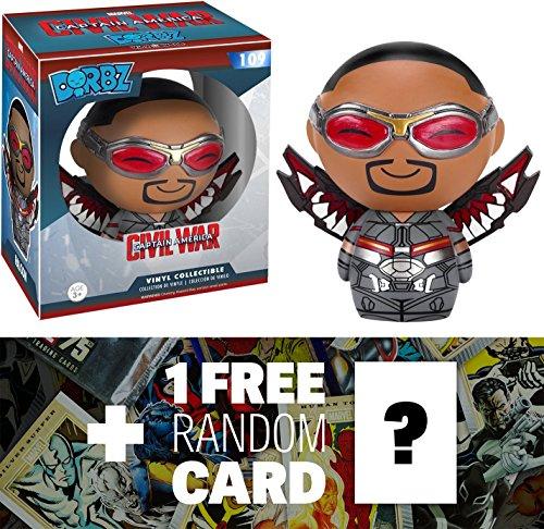 Falcon: Funko Dorbz x Captain America Civil War Mini Vinyl Figure + 1 FREE Official Marvel Trading Card Bundle (077358)