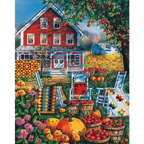 Cheap White Mountain Autumn Quilts 1000. Piece Jigsaw Puzzle by White Mountain Puzzles (B0033BXHW6)