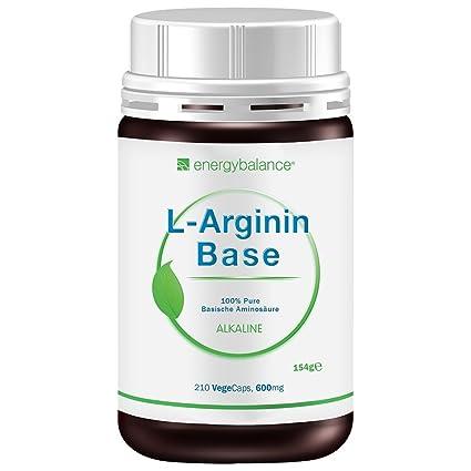 L-Arginin Base Aminosäure freie Form, 210 VegeCaps
