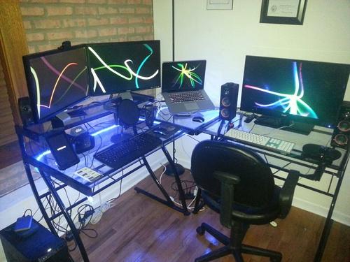 com z line belaire glass l shaped computer desk home office desks