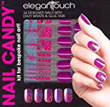 Elegant Touch Nail Candy Kit Purple Pack of 24 Nails