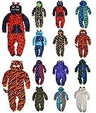 Jungen Fleece Mit Kapuze Overall Kinder Overall Kinder Schlafanzug Neu