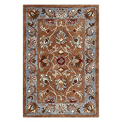 Safavieh Heritage Collection HG812B Handmade Wool Area Rug, Blue and Brown
