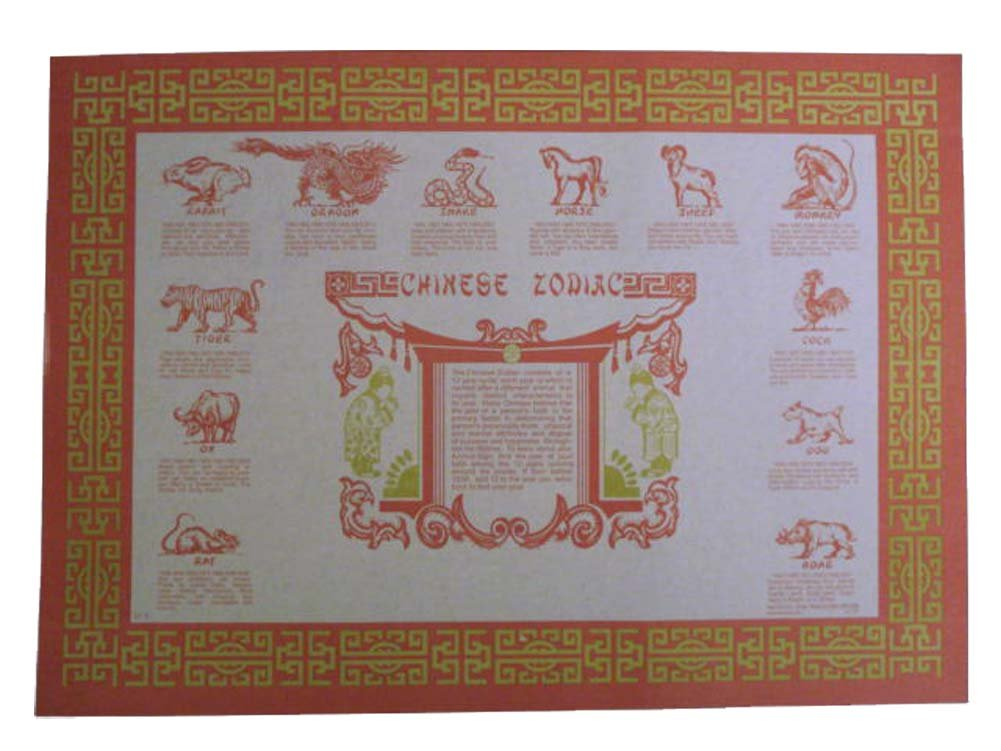 Amazon com - Chinese Zodiac Chinese Zodiac Placemats Printable