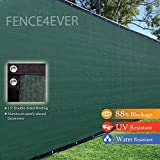 Fence4ever 8' x 50' Olive Green Fence Privacy Screen Windscreen Shade Fabric Mesh Tarp (Aluminum Grommets)
