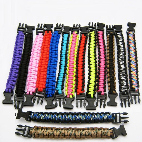 1 Paracord 550 Bracelets Cord Buckle Camping Survival Type Kit Military Tactical front-655239