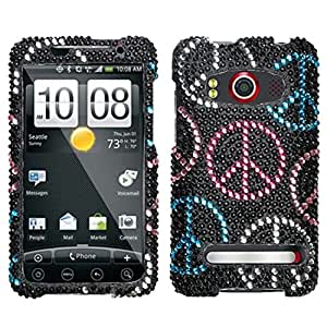 Asmyna HTCEVO4GHPCDM135NP Dazzling Luxurious Bling Case for HTC EVO 4G - 1 Pack - Retail Packaging - Peace