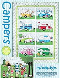 "Campers Quilt Patterns; Full Size Patterns, Full Size Placement Sheets & Instructions, for a 40"" By 54"" Camper Trailer Quilt, Plus More"