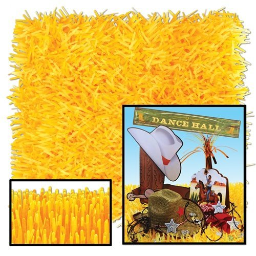 Pkgd Fringed Tissue Mats (golden-yellow)    (2/Pkg)