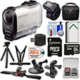 Sony Action Cam FDR-X1000VR Wi-Fi 4K HD Video Camera Camcorder & Remote + 32GB Card + Handlebar, Helmet, Suction Cup & Chest Mounts + Battery Case Kit