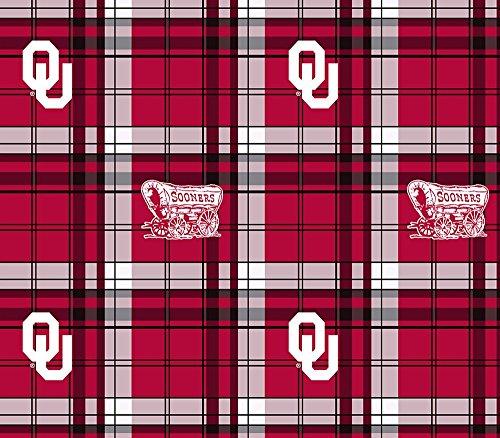 ncaa-university-of-oklahoma-boomer-sooner-plaid-licensed-fleece-fabric