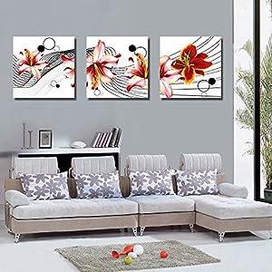 ,Art abstrait,fleurs Peinture,aquarelle: Cuisine & Maison