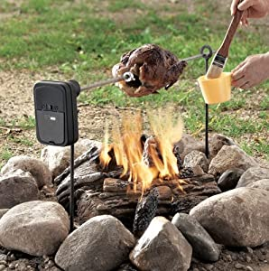 Grill Rotisserie - Battery Powered Self Spinning Rotisserie For Grills And Campfires from Barr Brothers