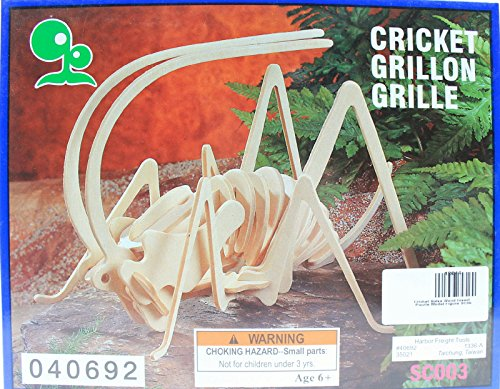 Cricket Balsa Wood 3D Insect Puzzle