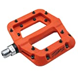 FOOKER Nylon Composite 9/16 Mountain Bike Pedals High-Strength Non-Slip Bicycle Pedals Surface For Road BMX MTB Fixie Bikes (Orange 3 bearings) (Color: Orange 3 bearings)