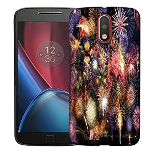Snoogg Colorful Firecrackers Designer Protective Back Case Cover For MOTO G4 PLUS
