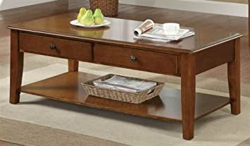 Coaster Home Furnishings 702388 Casual Coffee Table, Cherry