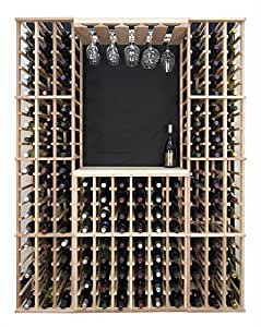 Wine Rack Table Top Bar Surface in Finish Choices