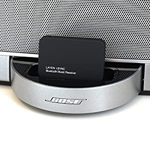 LAYEN® i-SYNC - Bluetooth Audio Adaptor / Bluetooth Receiver For Docking Stations or Stereo Systems - Stream Music Wirelessly From Your Bluetooth Device; iPod, iPhone, iPad, Smartphone, Tablet, MP3 Player, PC or Laptop to your Docking Station or Stereo System