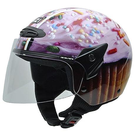 NZI 050269G708 Helix Jr Graphics Cupcake, Casque de Moto, Multicolore, Taille L