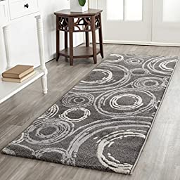Safavieh Porcello Collection PRL3727B Dark Grey Runner, 2 feet 4 inches by 6 feet 7 inches (2\'4\