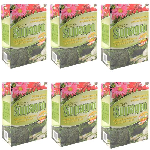 Supagro Organic General Purpose Garden Fertiliser With Lime To Improve Soil 12Kg