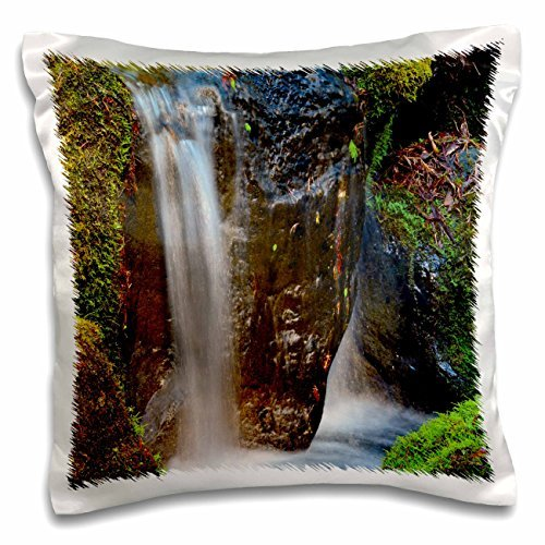 Waterfalls Waterfall Portland Japanese Garden Portland Oregon 16x16 Inch Pillow Case