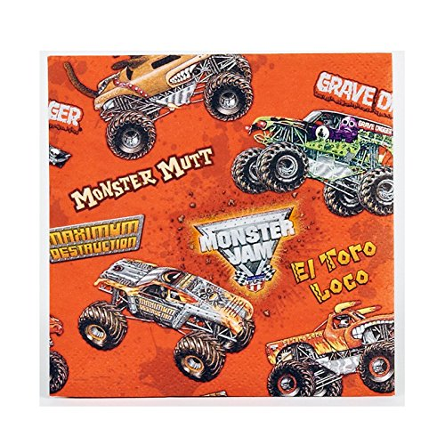 Monster Jam 3D Beverage Napkins (20)