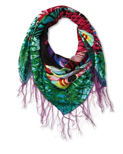 Desigual Women's Climente Printed Scarf, Blue As You See