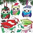Kits couture D�corations chouettes pour No�l en feutre que les enfants pourront fabriquer et suspendre (Lot de 3)