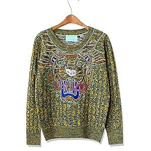 Asoidchi Women Girls Deer Maple Leaf Deer Jubilant Red Sweater