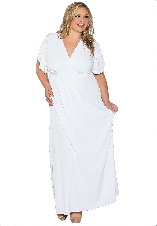 Plus Size White Dresses For Women