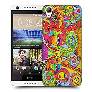 Snoogg Abstract Art Faces Designer Protective Back Case Cover For HTC 626