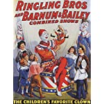 CIRCUS THE CHILDREN'S FAVORITE CLOWN LARGE VINTAGE POSTER REPRO