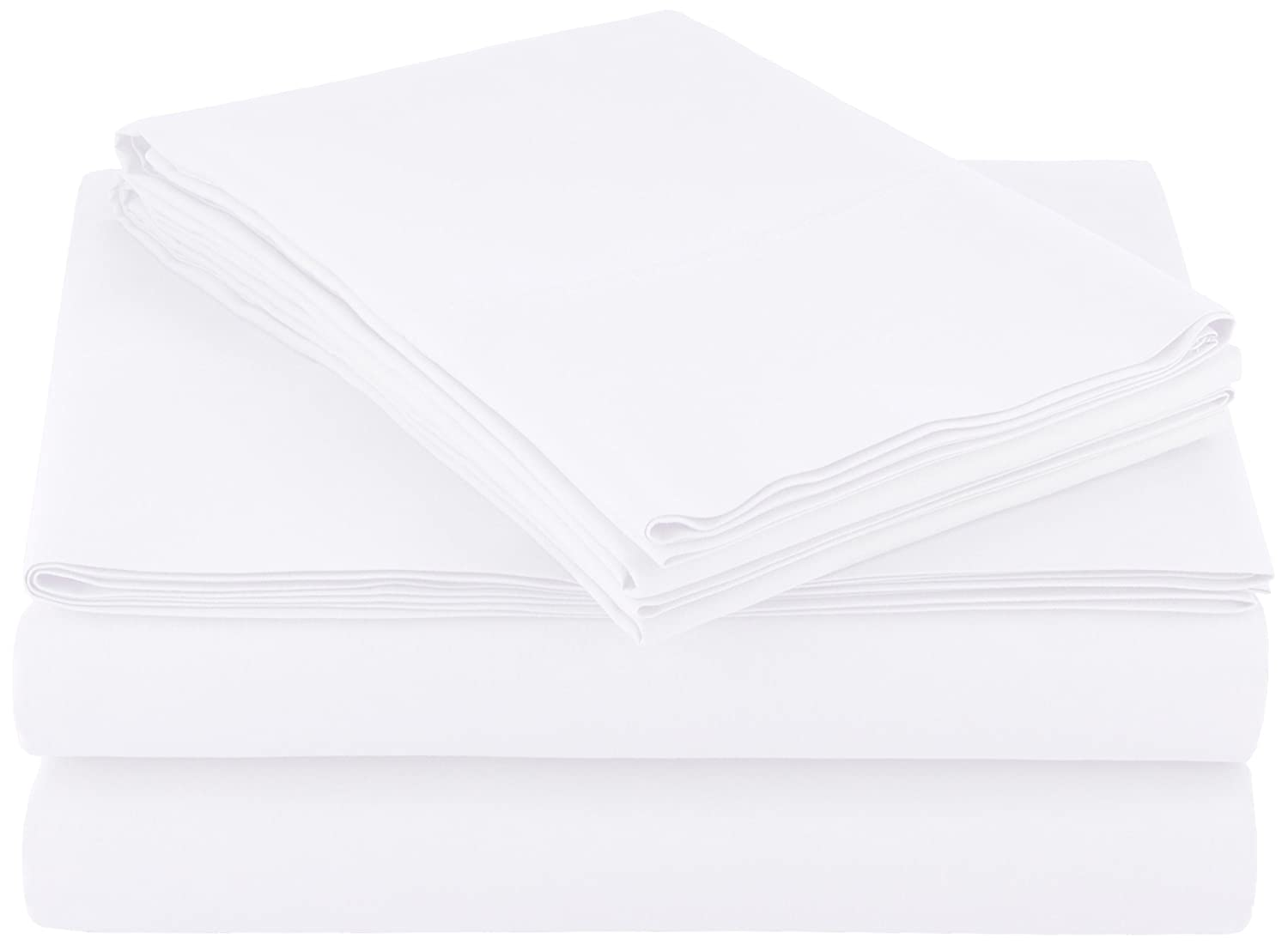 AmazonBasics Microfiber Sheet Set - Full, Bright White